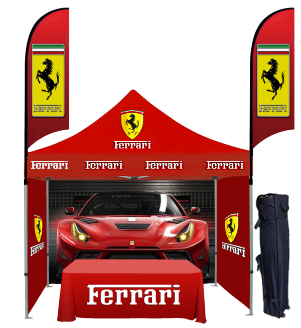 10x10 Custom Printed Canopy Tent Packages