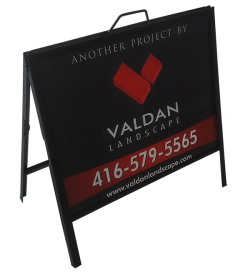 A frame sidewalk signs with Double side Graphics