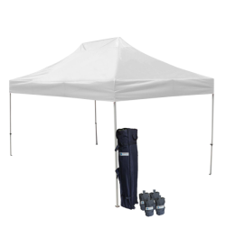 10' W x 15' H Canopy Tent with Aluminum Frame 40mm (Commercial Grade) - White